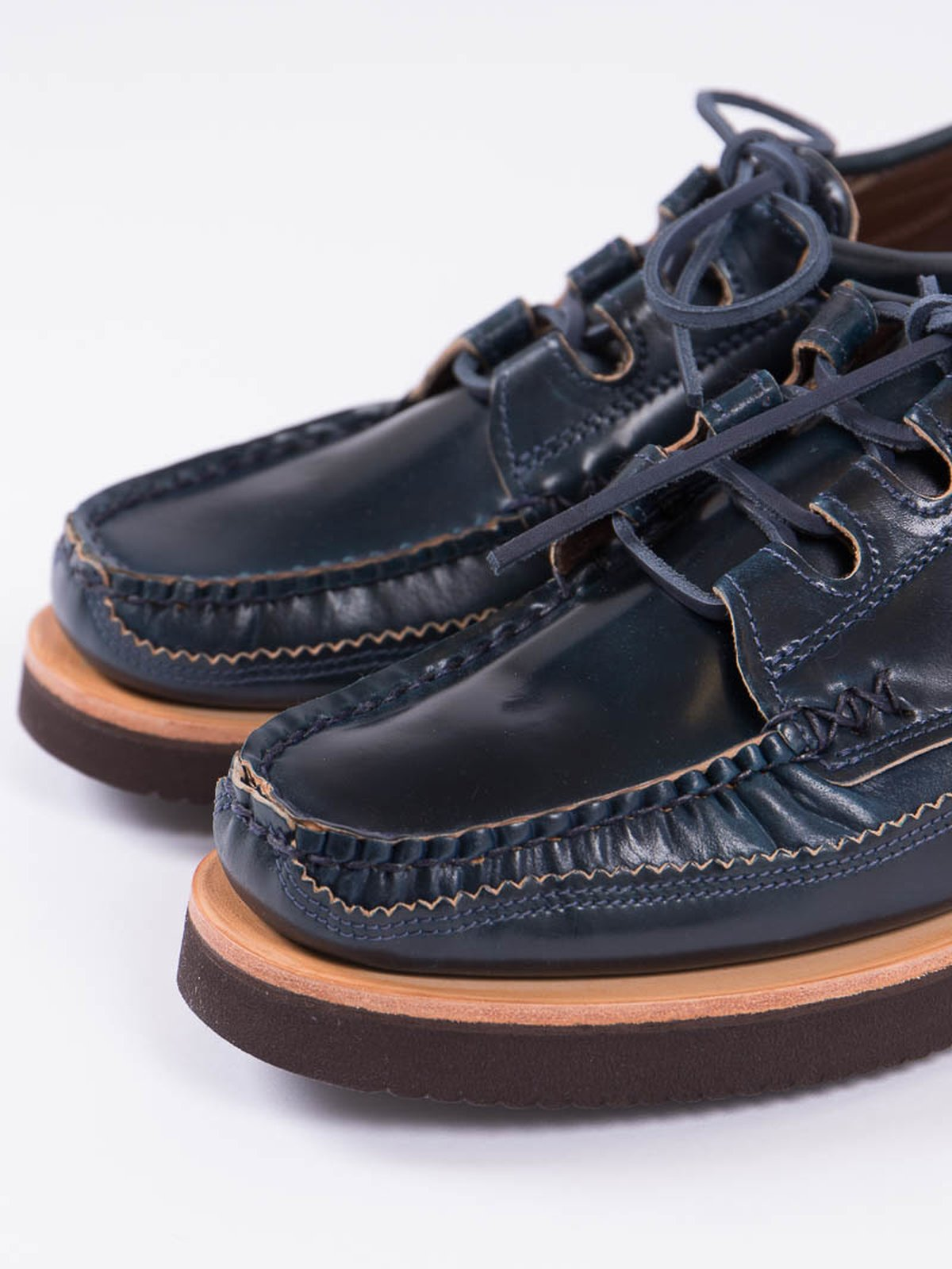 Navy Cordovan Ghillie Moc DB Shoe Exclusive - Image 2