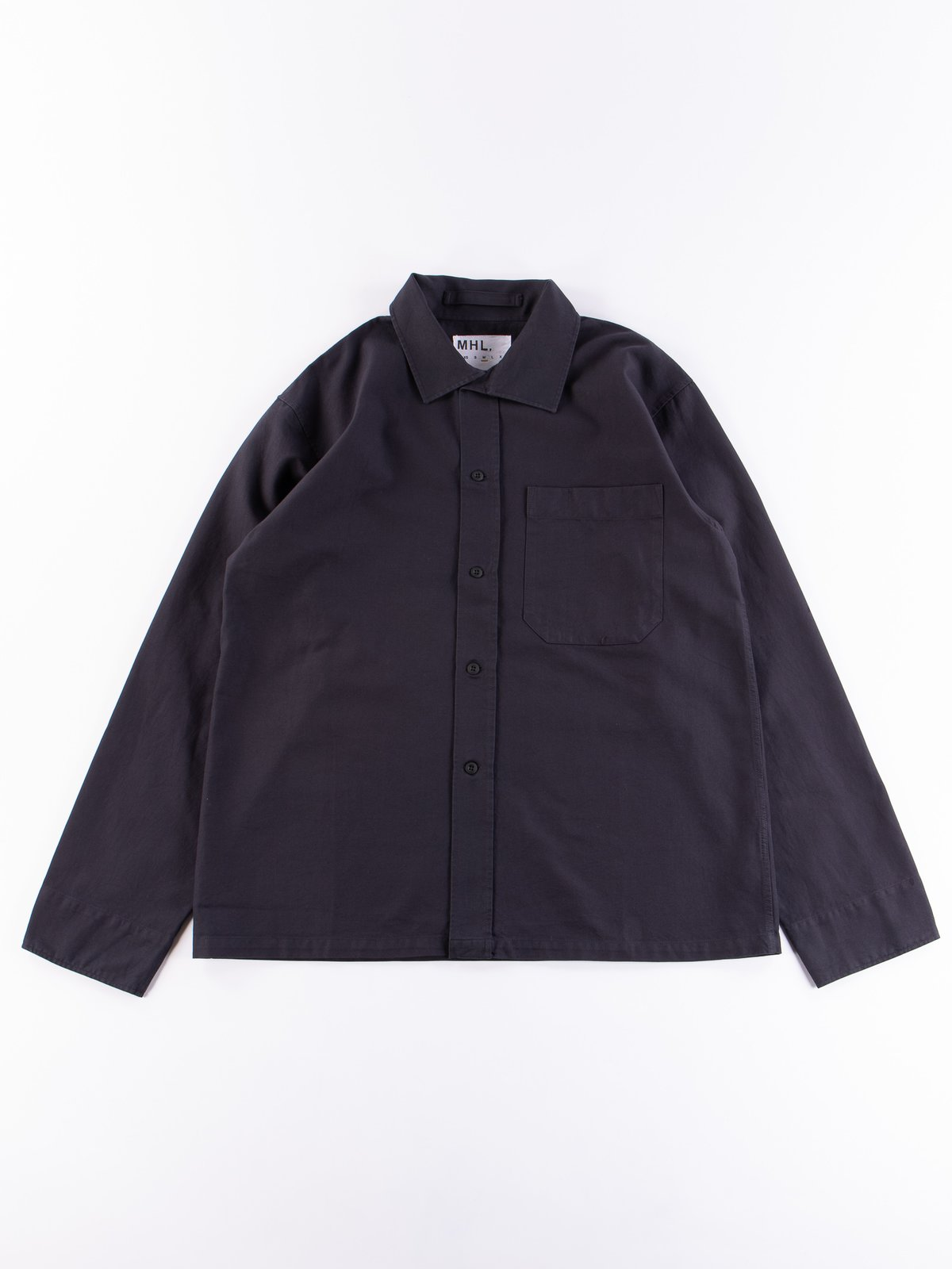 MHL Charcoal Asymmetric Collar Shirt - Image 1