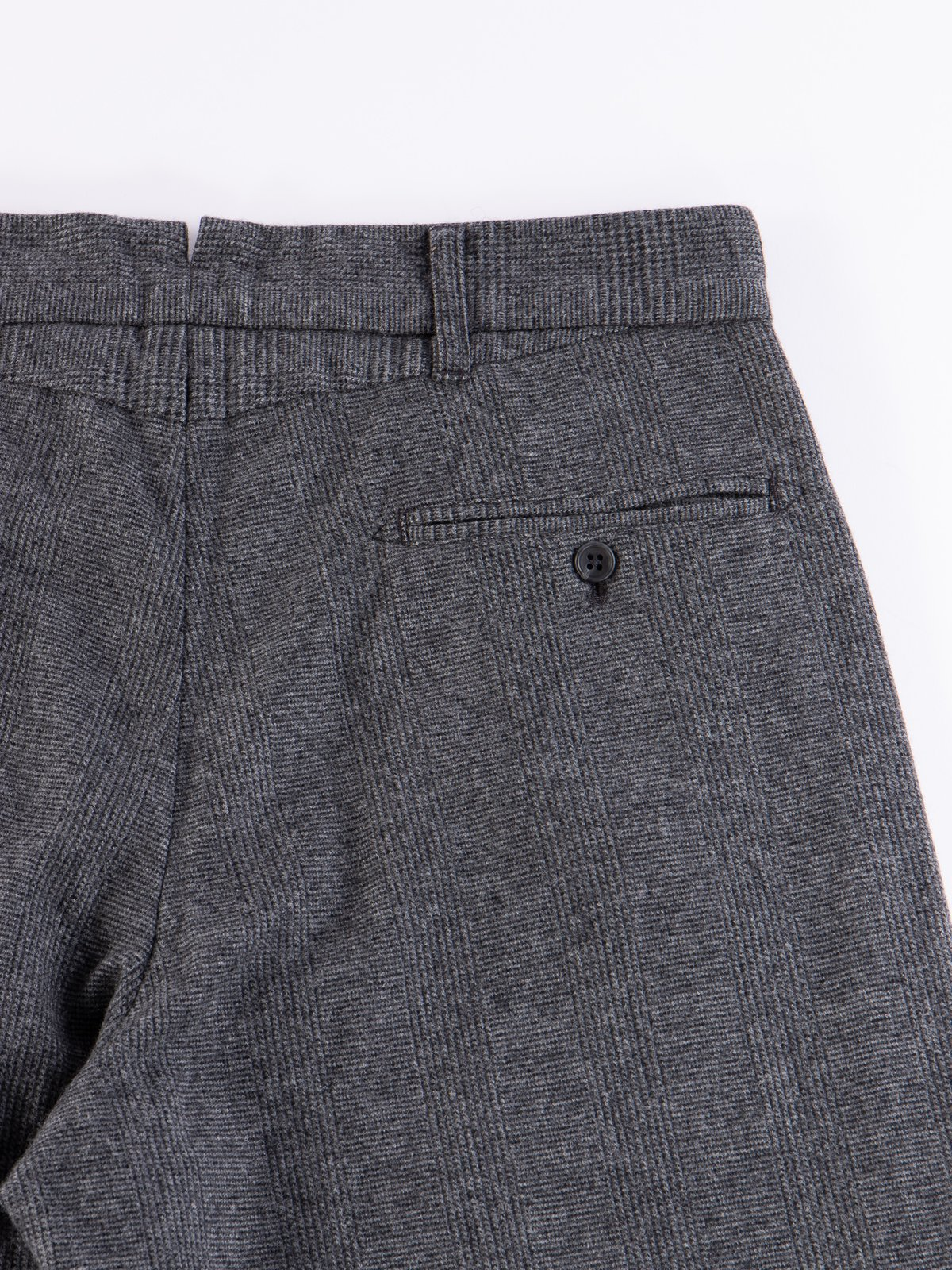 Grey Wool Glen Plaid Stripe Andover Pant - Image 6