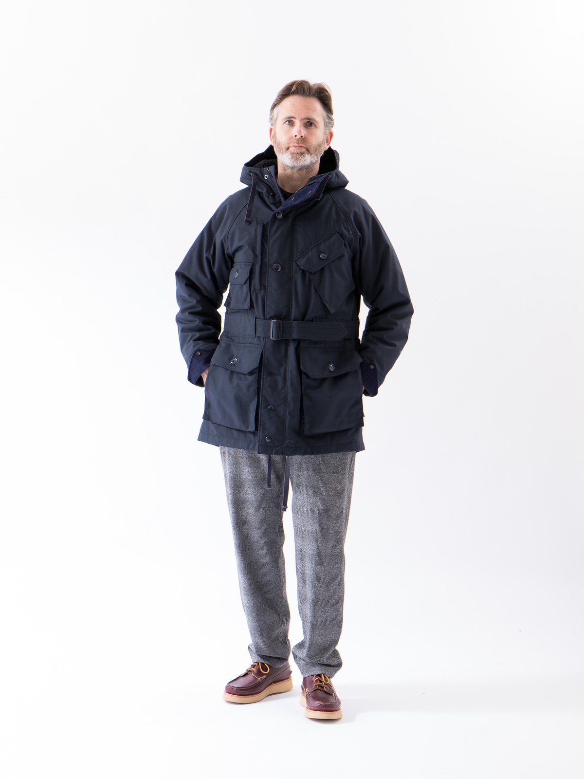 Grey PC Knit Glen Plaid Jog Pant - Image 2
