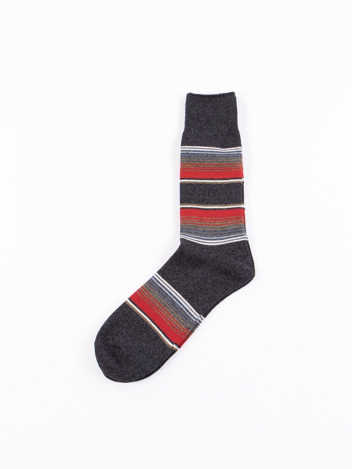 Charcoal Baja Cali Stripe Socks - Image 1