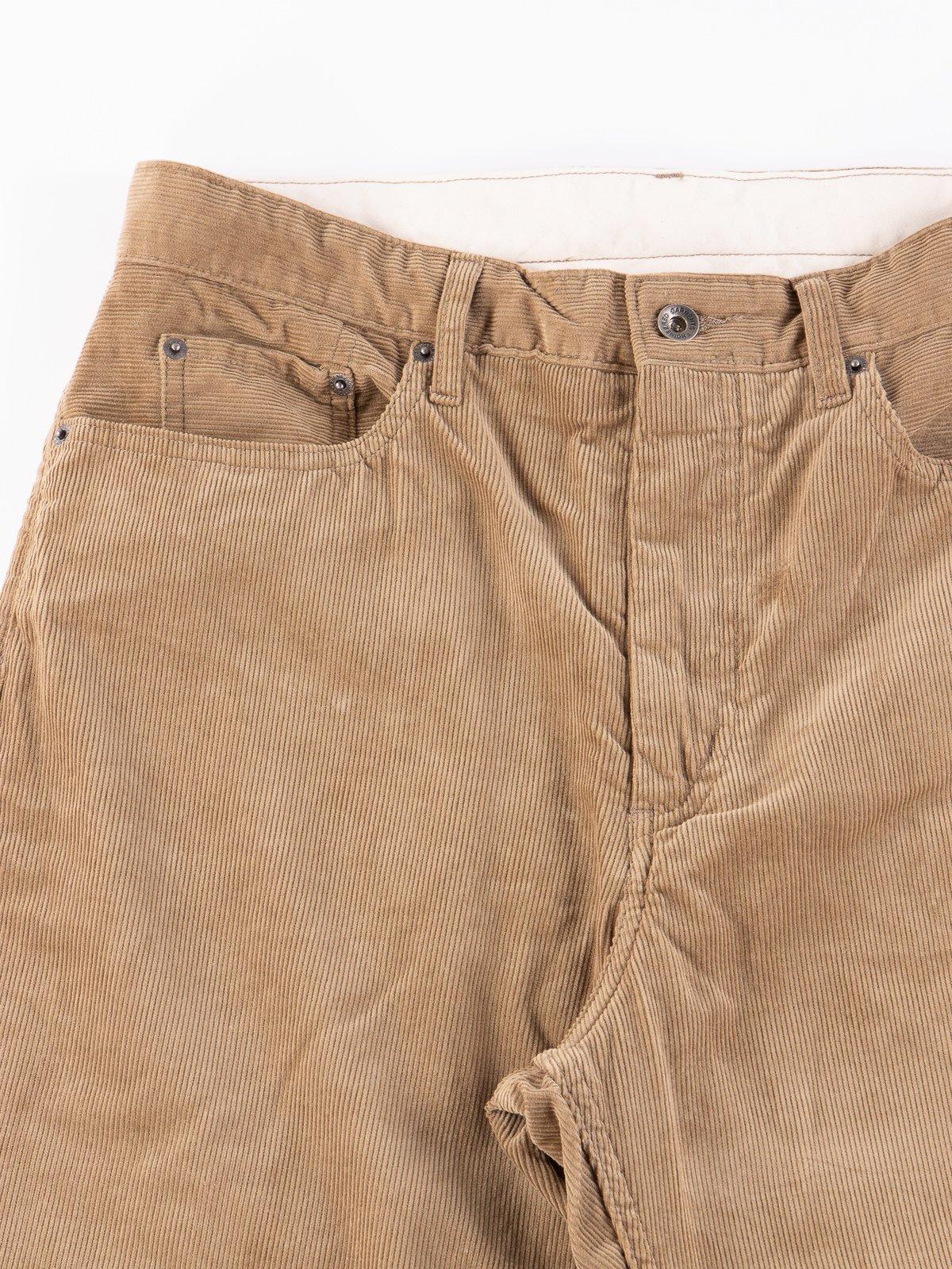 Khaki 14W Corduroy Wide Peg Jean - Image 3