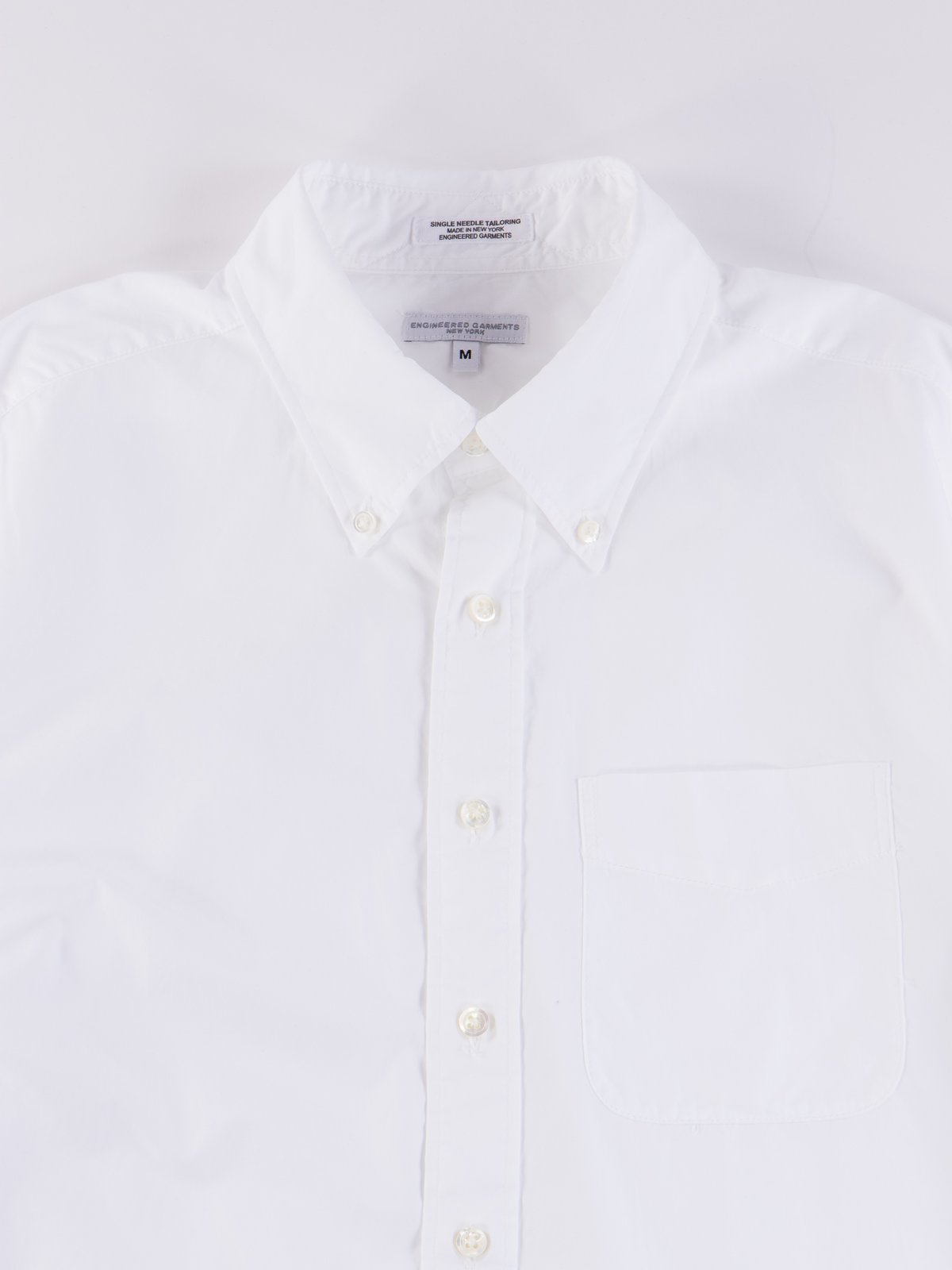 White 100's 2Ply Broadcloth 19th Century BD Shirt - Image 4