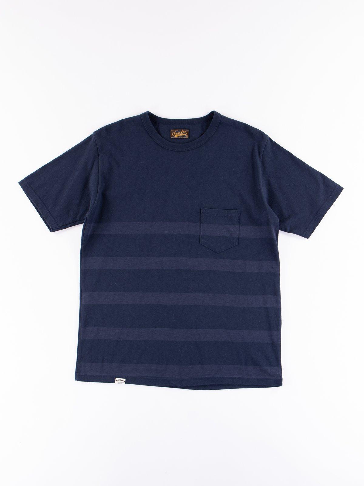 Navy Stripe Cote D'Ivoire Cotton T–Shirt - Image 1