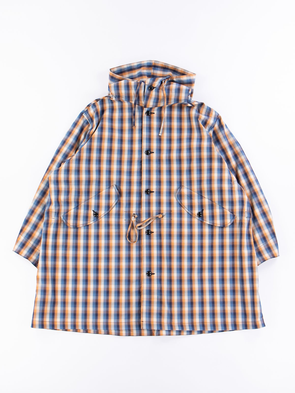 Blue/Orange Plaid Oxford Vancloth Czech Coat - Image 1