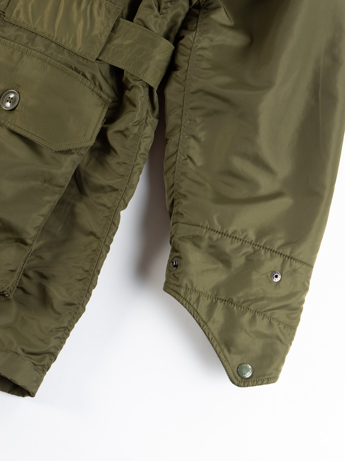 Olive Flight Satin Nylon Field Parka - Image 7