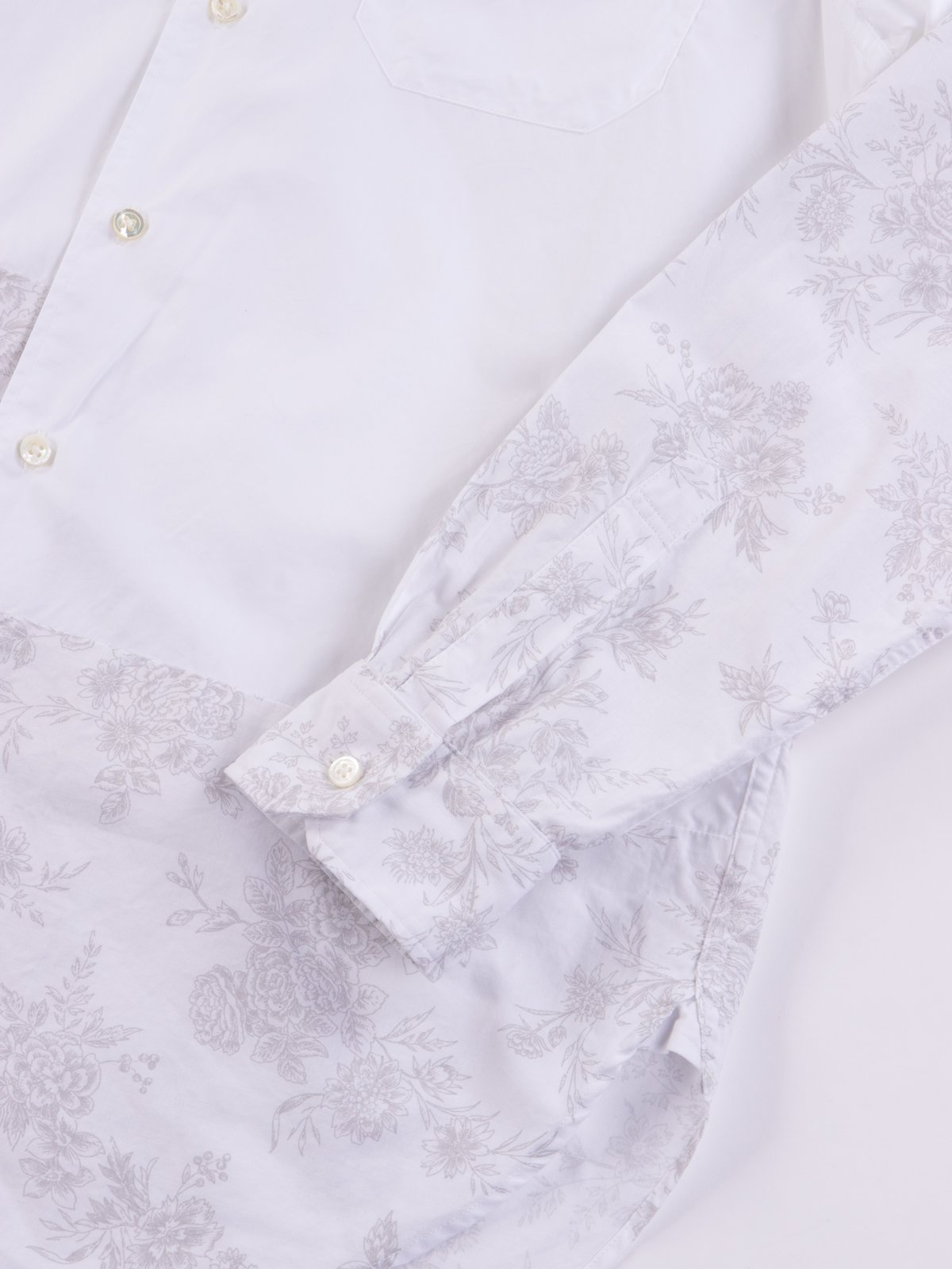 White 100's 2Ply Broadcloth Spread Collar Shirt SS20 - Image 4