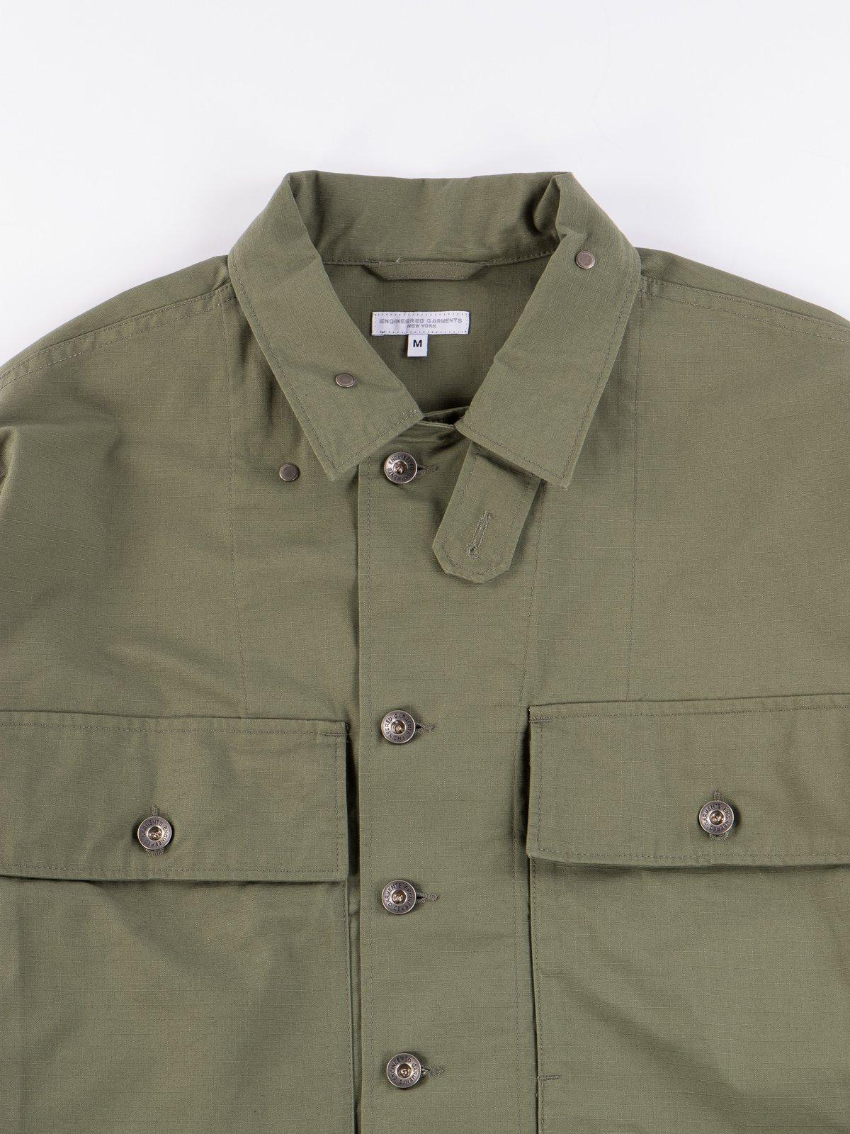 Olive Cotton Ripstop M43/2 Shirt Jacket - Image 4