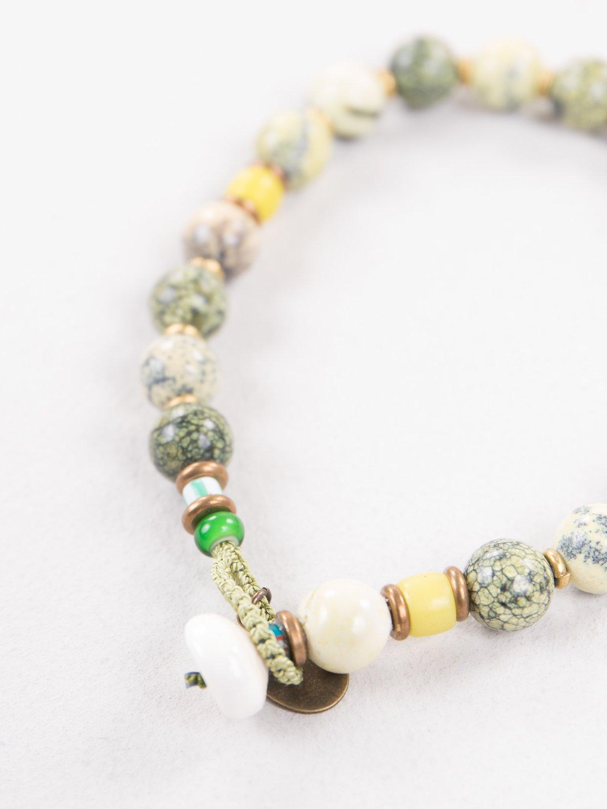Yellow/Green 8mm Bracelet - Image 3