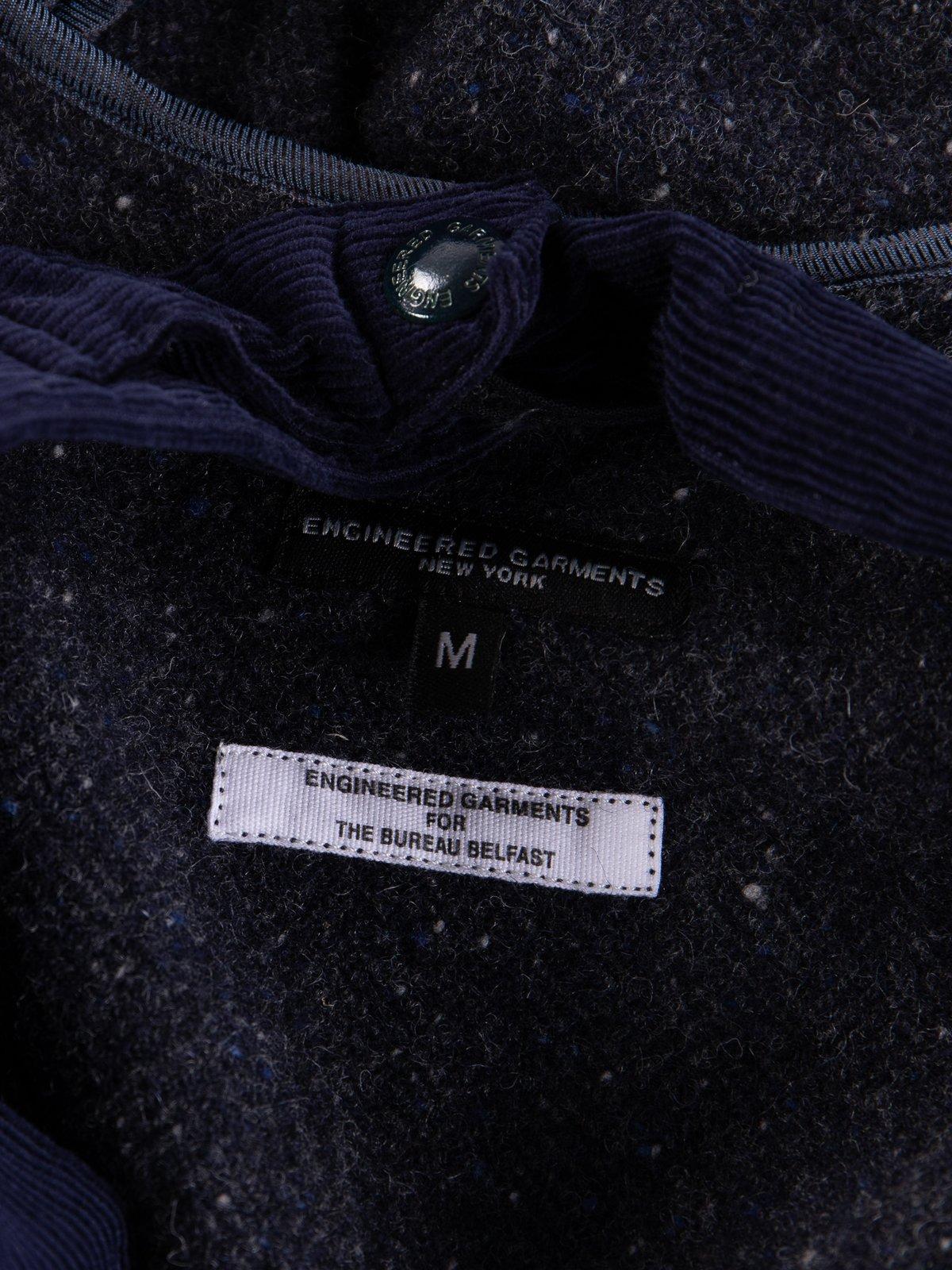 Navy Herringbone Donegal Wool Tweed Madison Parka - Image 11