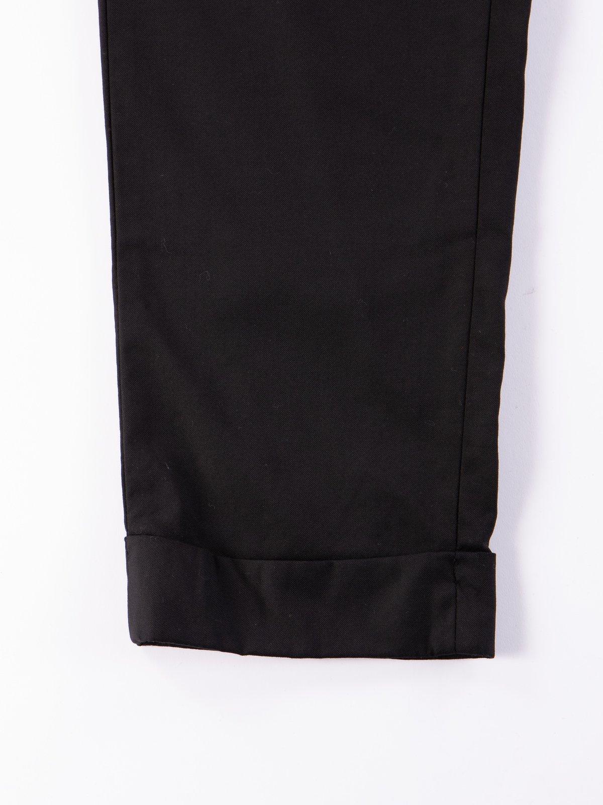 Black Worsted Wool Gabardine Andover Pant - Image 4