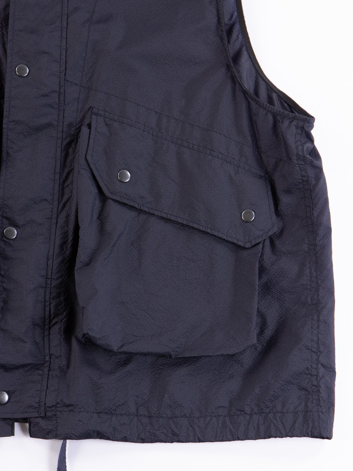 Dark Navy Nylon Micro Ripstop Field Vest - Image 4