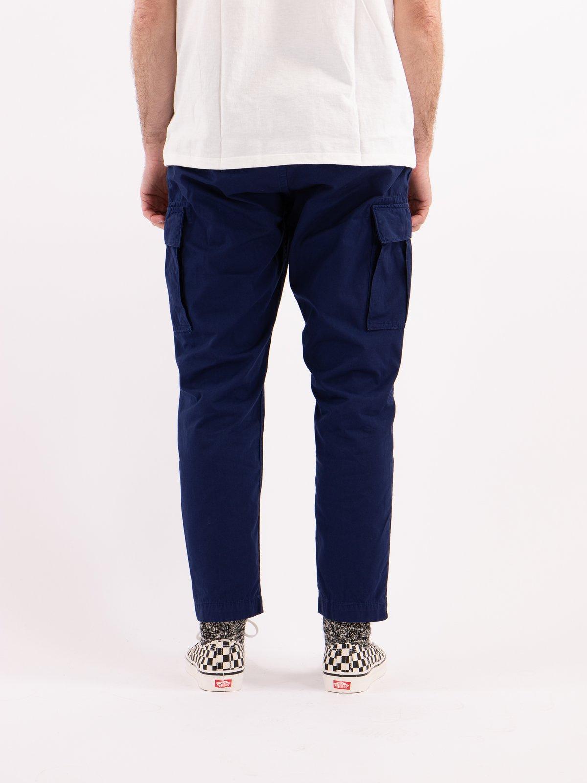 Ink Blue Poplin Easy Cargo Pant - Image 4