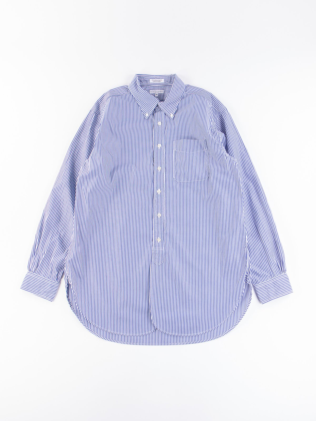 Blue/White Candy Stripe Broadcloth 19th Century BD Shirt - Image 1