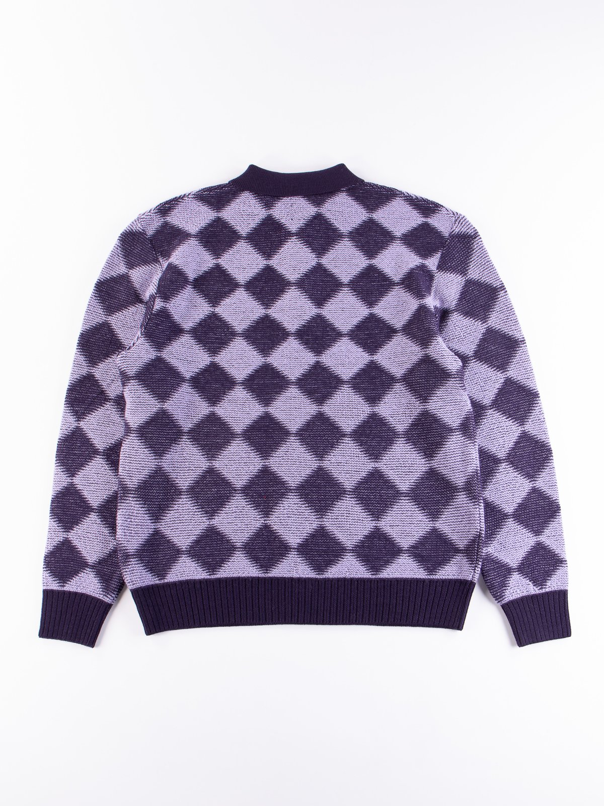 Purple Checkered Polo Sweater - Image 5