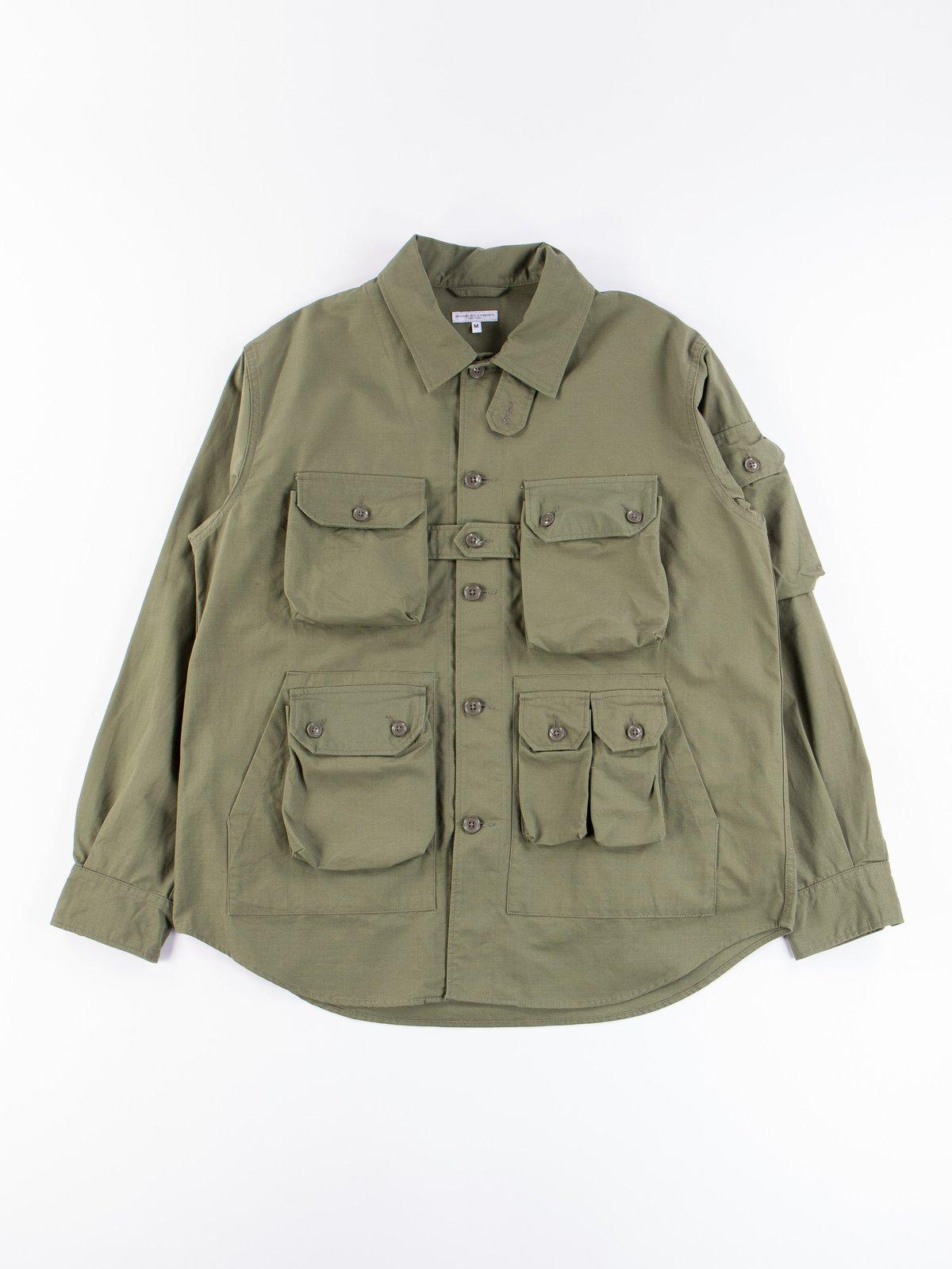 Olive Cotton Ripstop Explorer Shirt Jacket - Image 1