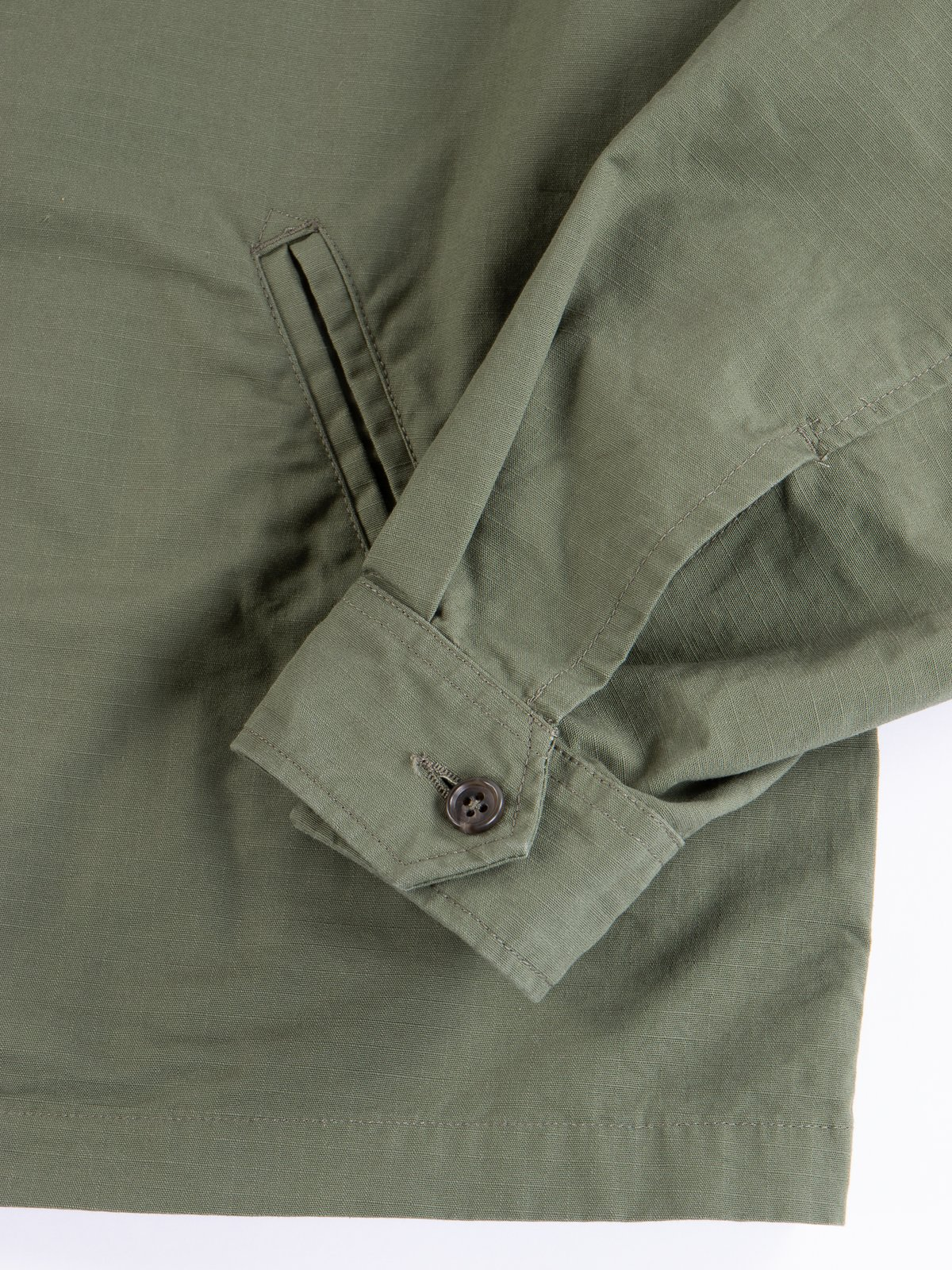 Olive Cotton Ripstop Driver Jacket - Image 4