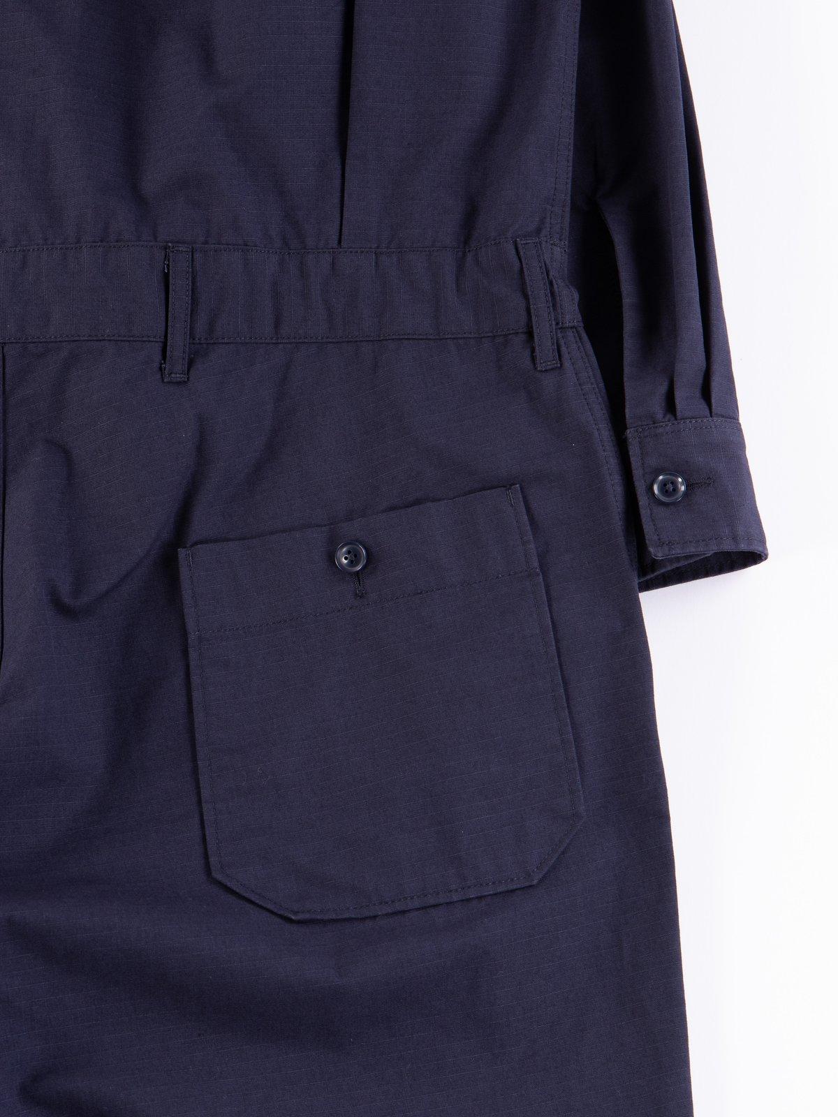 Dark Navy Cotton Ripstop Boiler Suit - Image 8
