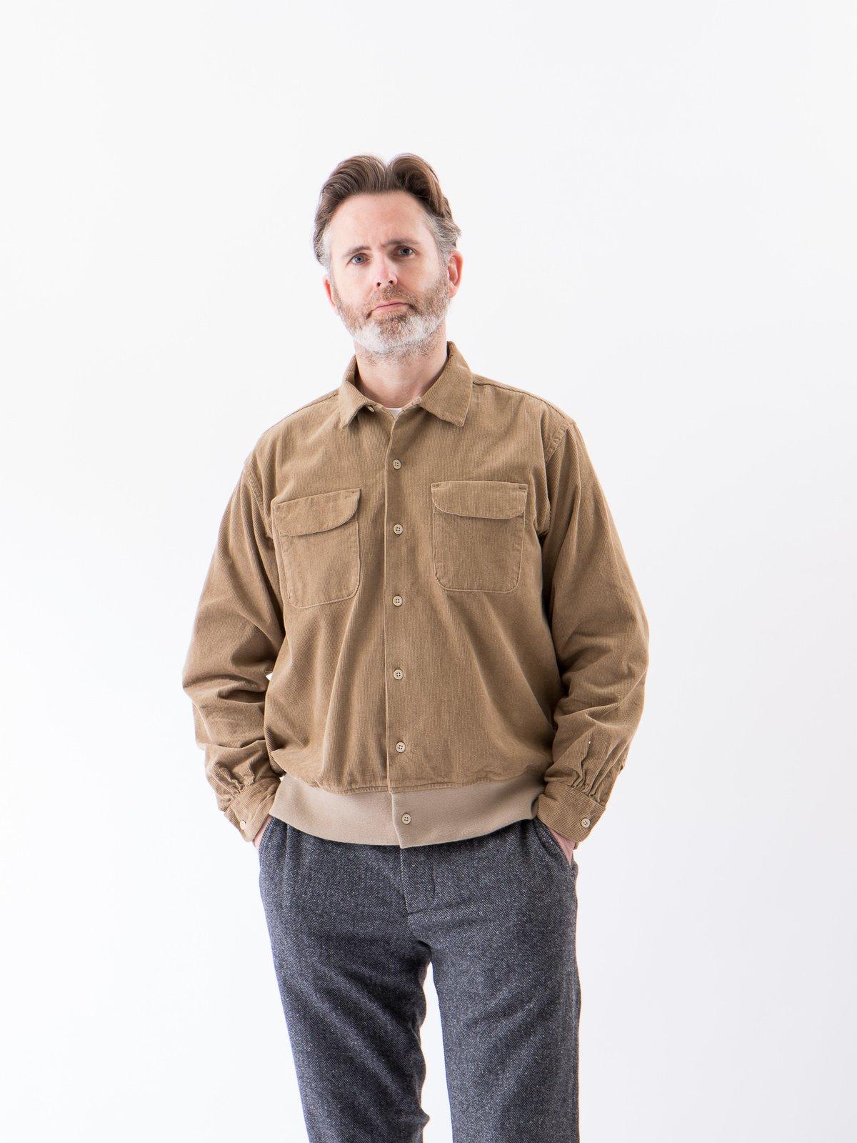 Khaki 14W Corduroy Classic Shirt - Image 2