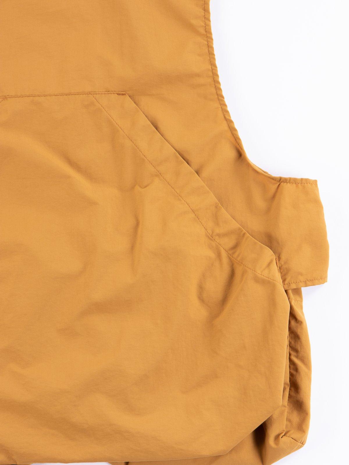 Mustard Acrylic Coated Nylon Taffetta Fowl Vest - Image 5