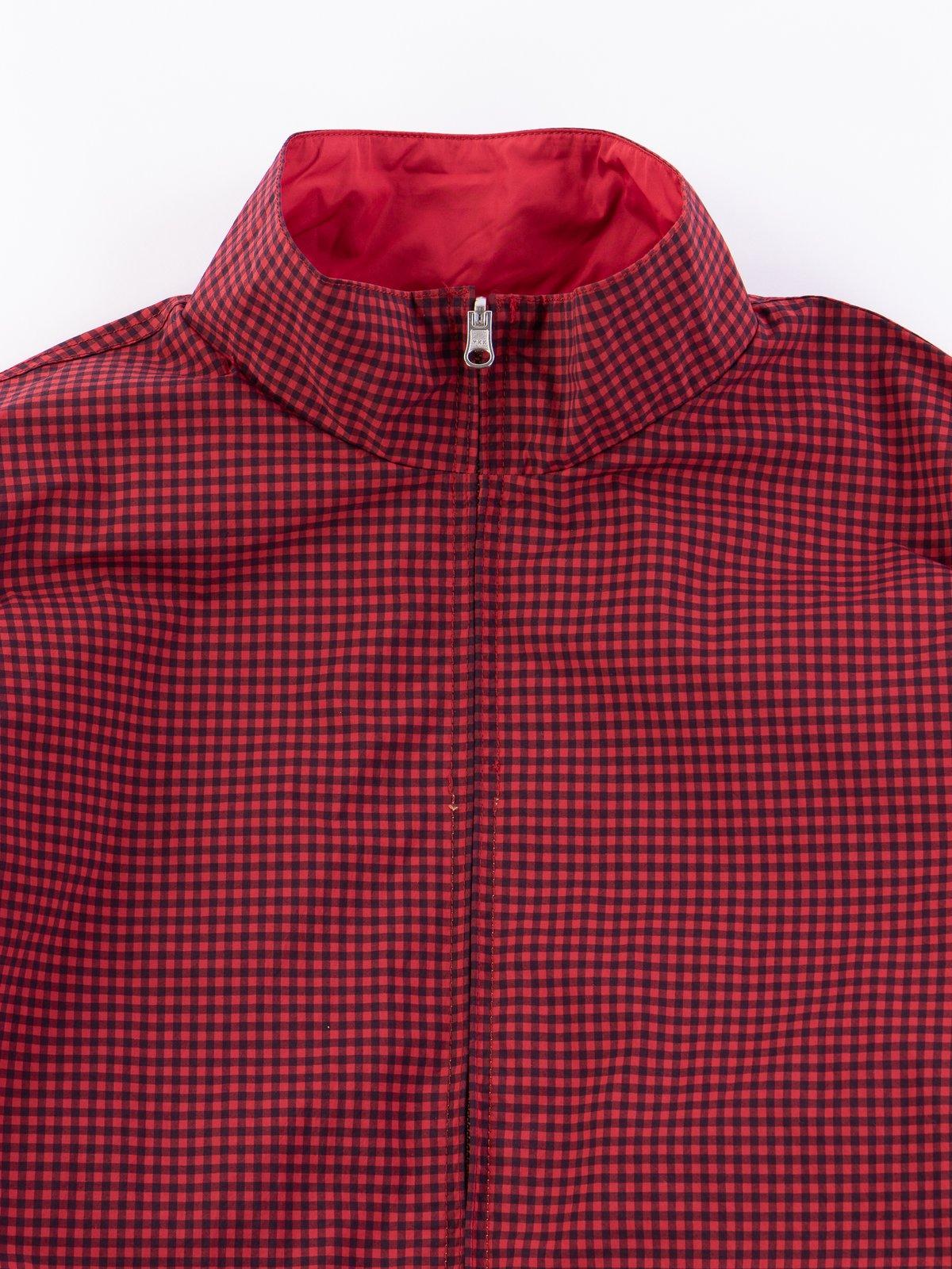 Red Gingham Reversible Jacket - Image 3