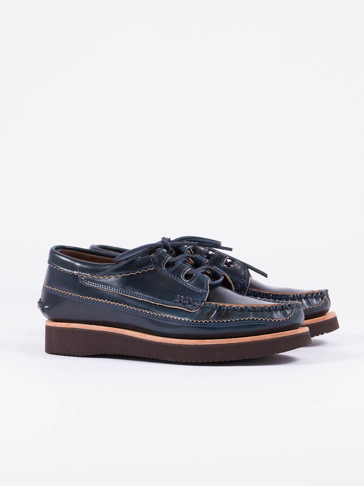 Navy Cordovan Ghillie Moc DB Shoe Exclusive - Image 1