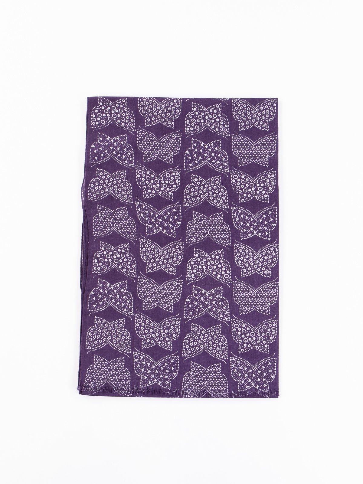 Purple Cotton Gauze Stole - Image 1