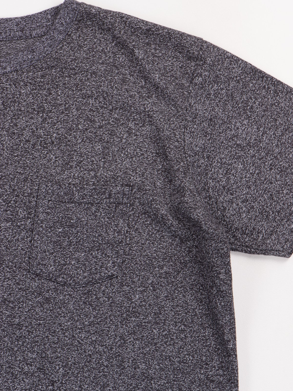 Heather Black 1–Pac Pocket Tee - Image 4