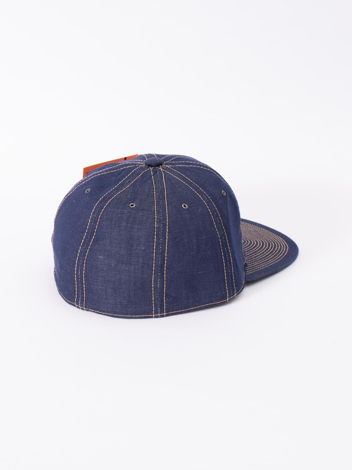 NAVY COTTON LINEN CAP - Image 2