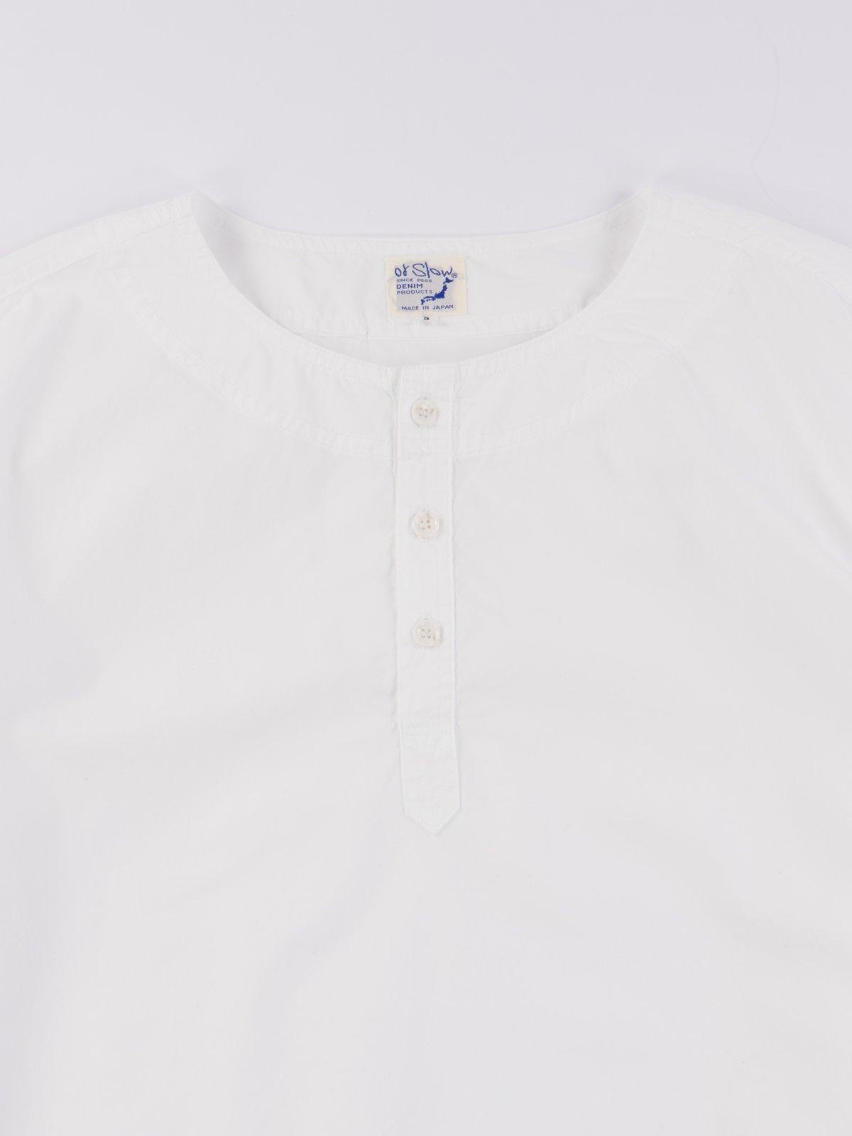 White Poplin Pullover Shirt - Image 3