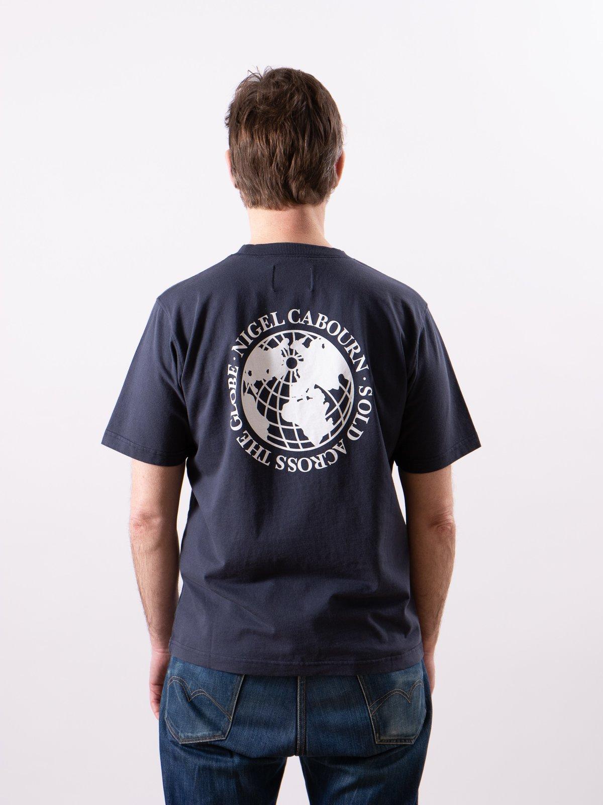Navy Globe Back Print Tee - Image 6