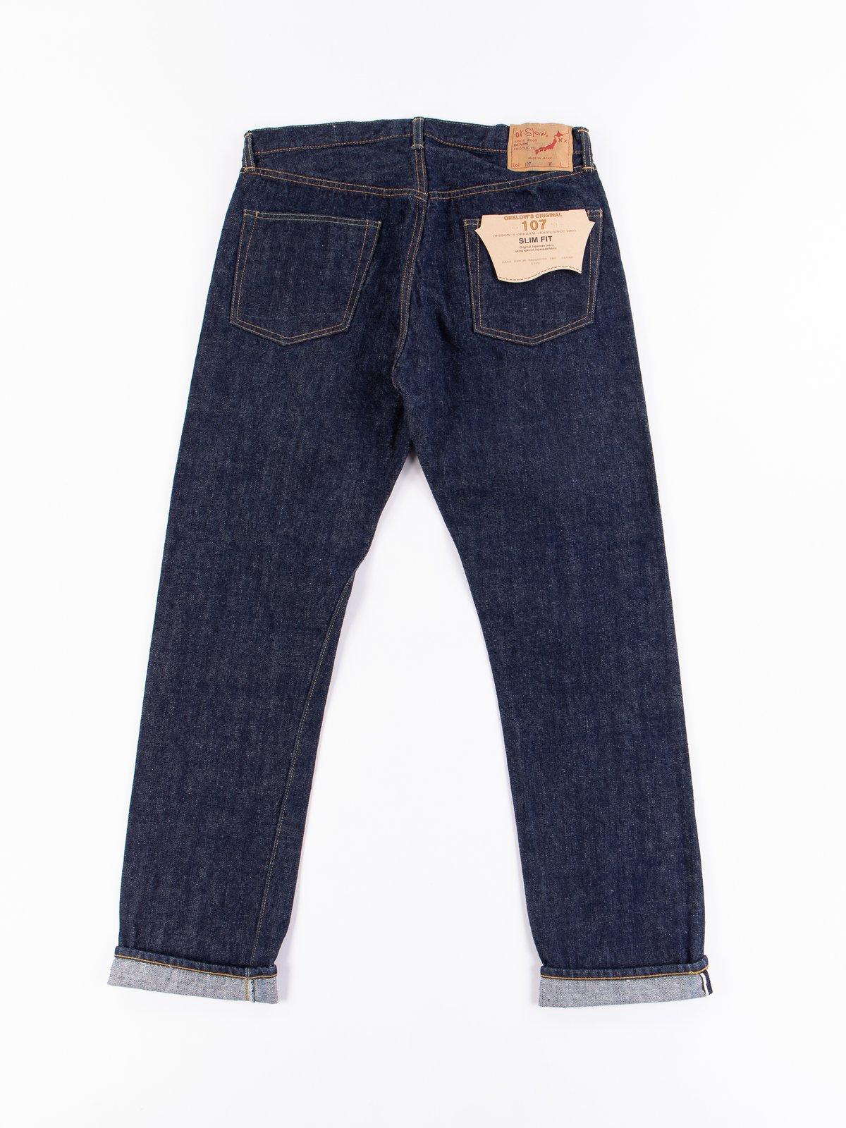 Indigo One Wash 107 Slim Fit Jean - Image 7