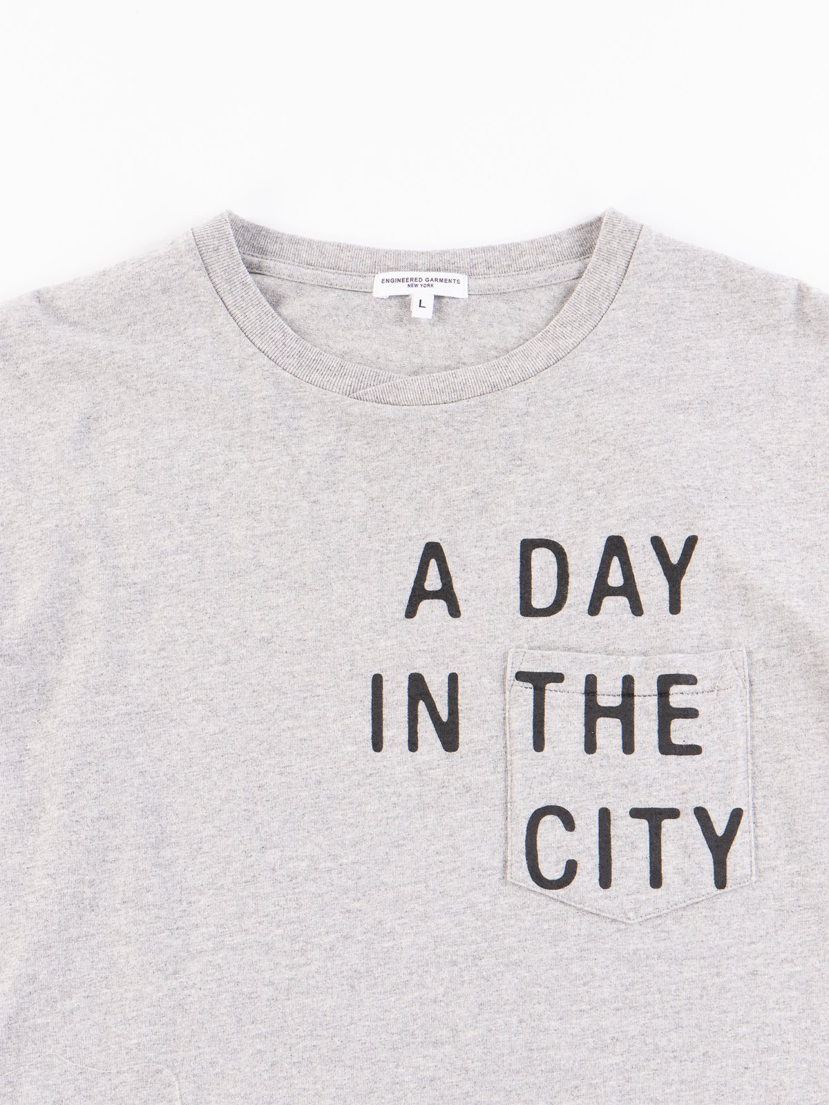 Grey A Day Printed Cross Crew Neck T–Shirt - Image 3