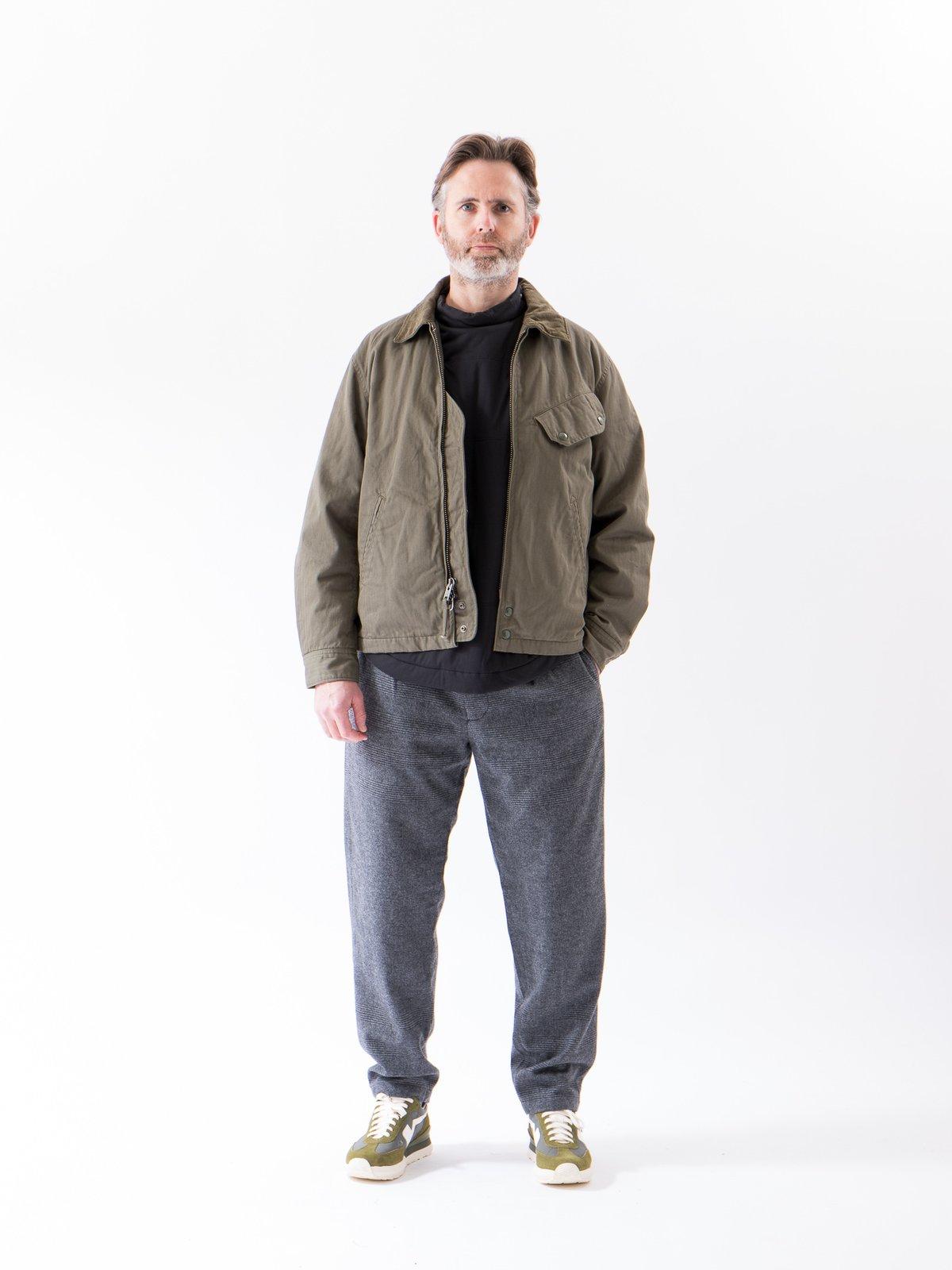 Grey Wool Glen Plaid Stripe Carlyle Pant - Image 2