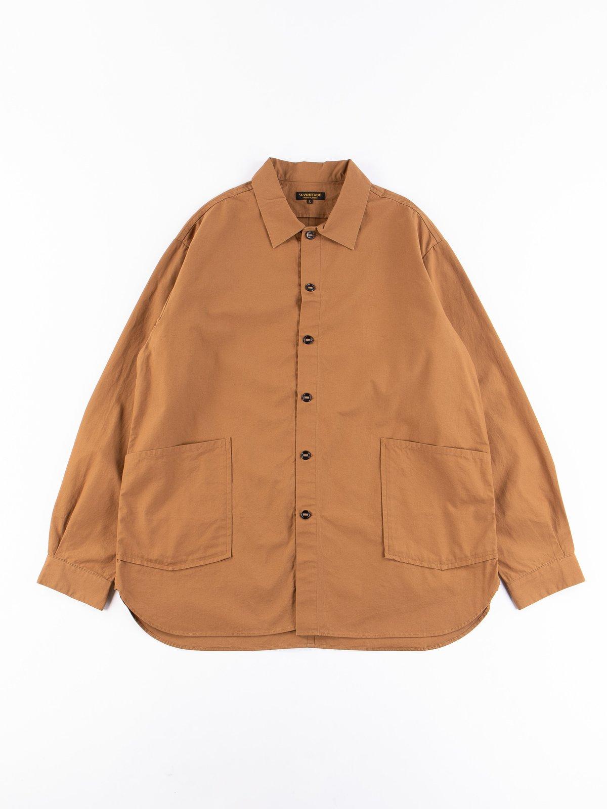 Tan Gardener Oxford Shirt Jacket - Image 1
