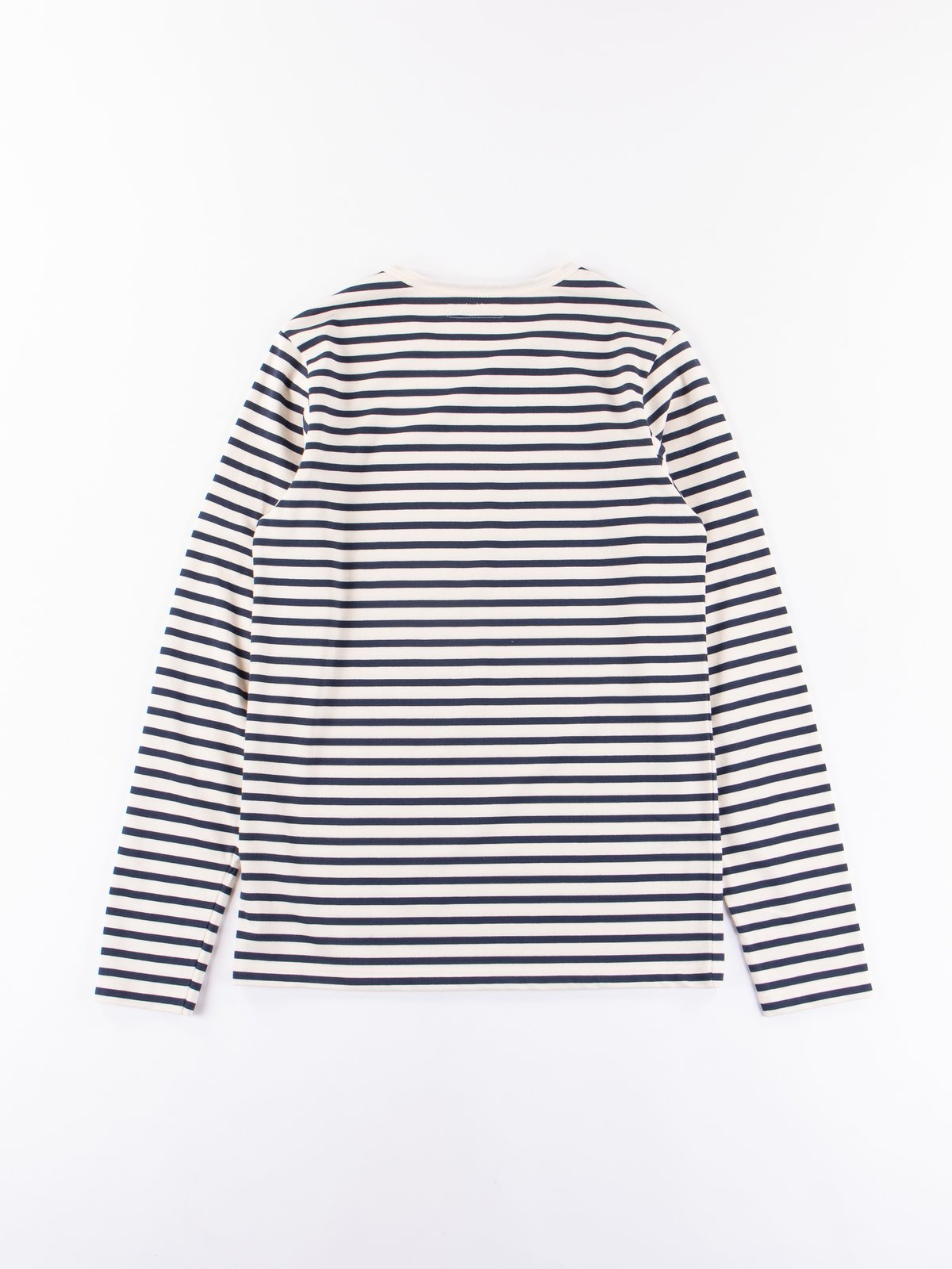 Ink/Natural Stripe 2M12 Crew Neck Long Sleeve Tee - Image 5