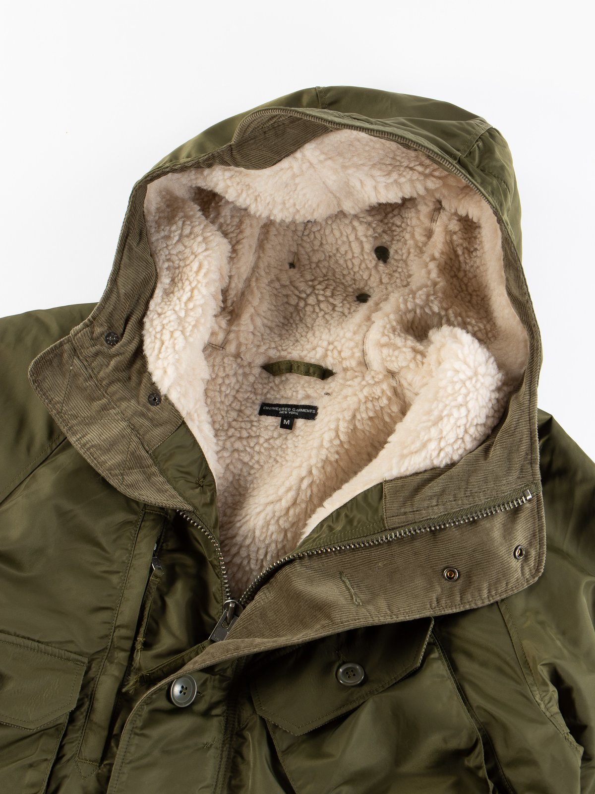 Olive Flight Satin Nylon Field Parka - Image 8