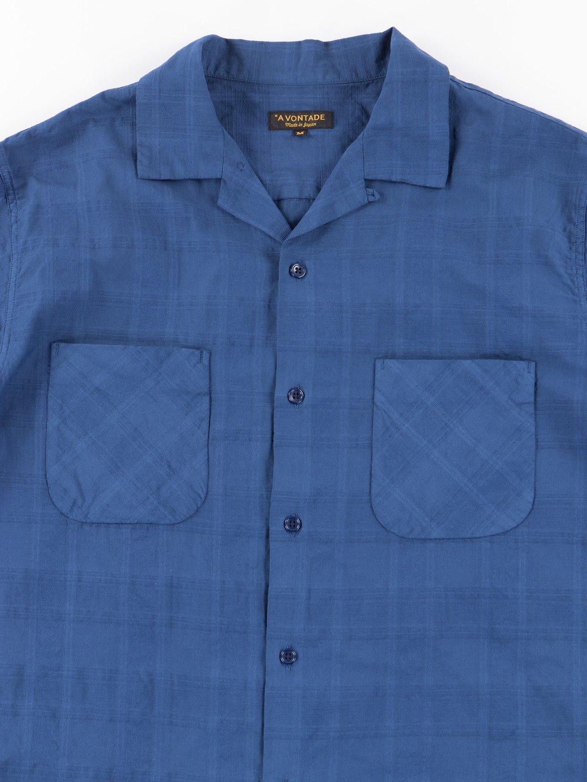 Navy Blue Open SS Shirt - Image 2