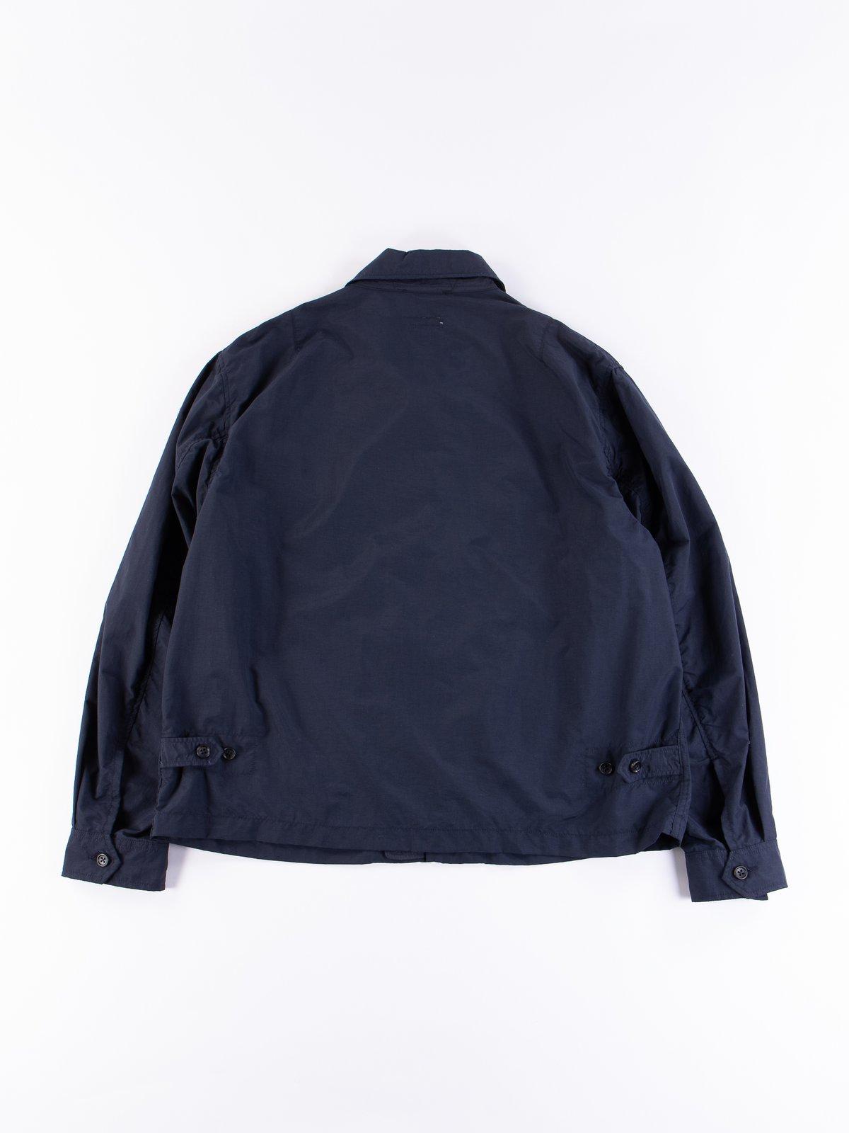 Navy Acrylic Coated Nylon Taffeta Driver Jacket - Image 5