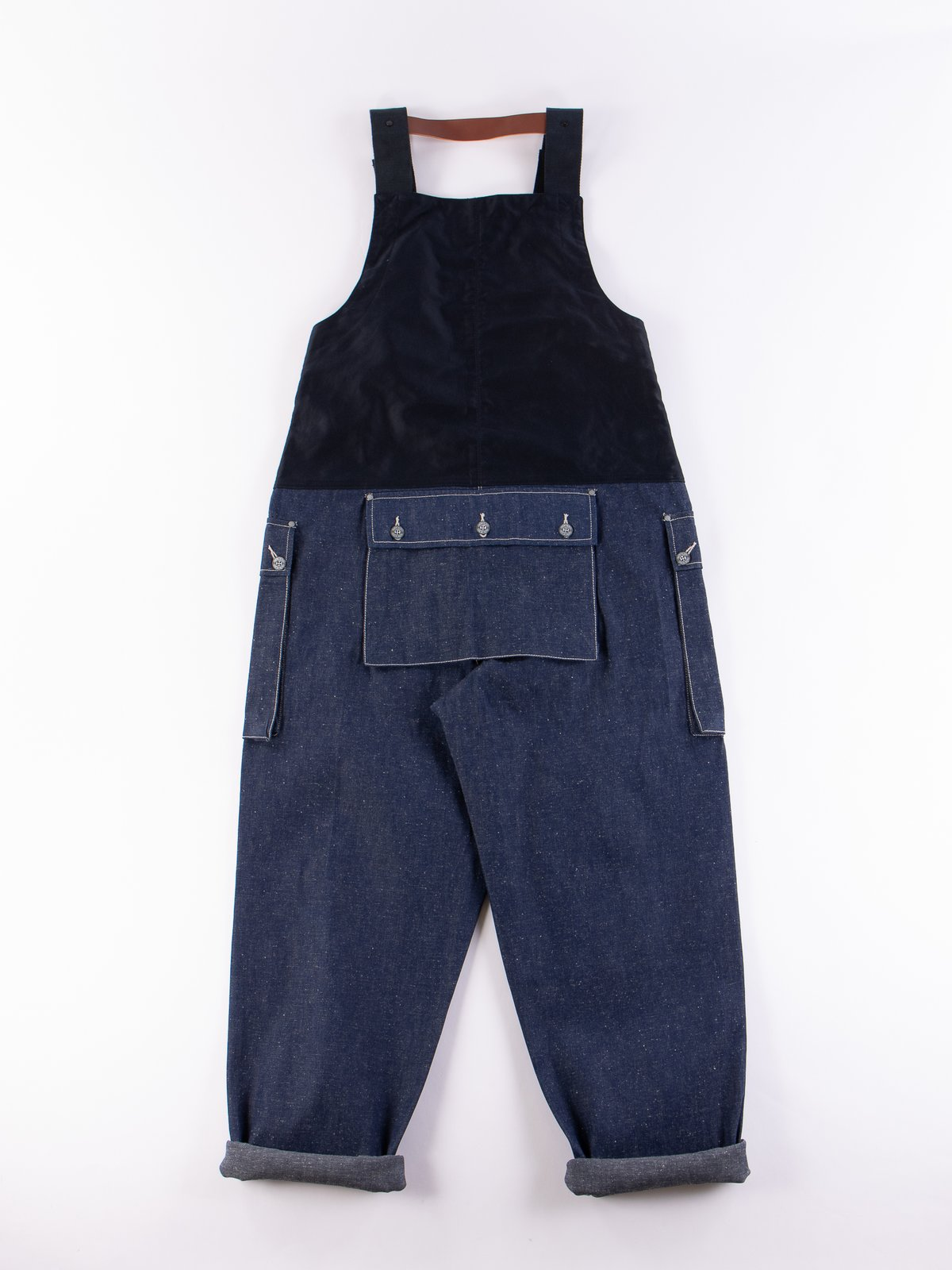 Lybro Split Denim/Navy Sateen Naval Dungaree - Image 5