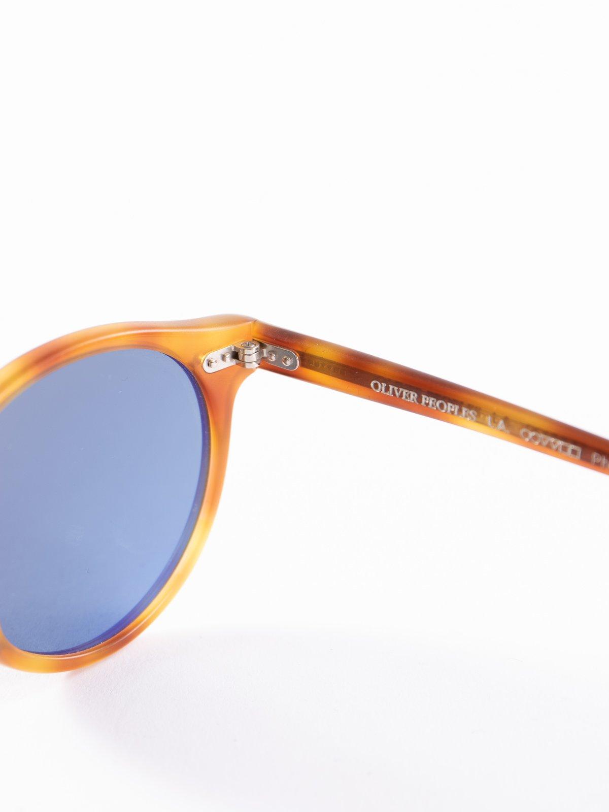Semi–Matte LBR/Blue Photochromic Gregory Peck Sunglasses - Image 4