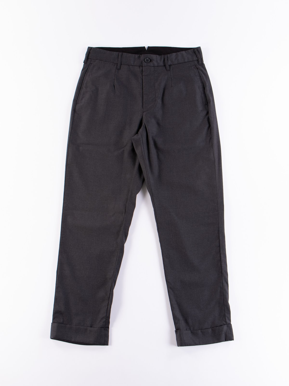 Charcoal Worsted Wool Gabardine Andover Pant - Image 1