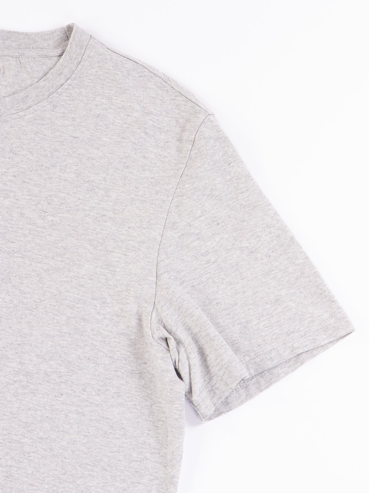 Grey Melange Good Basics CTOS01 Oversized Crew Neck Tee - Image 4