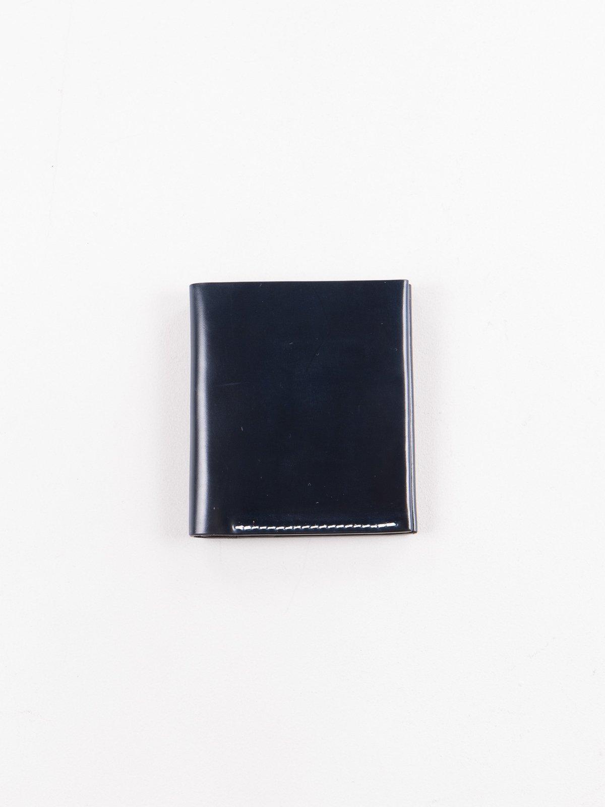 Navy Horween Cordovan 2–2 Wallet - Image 1