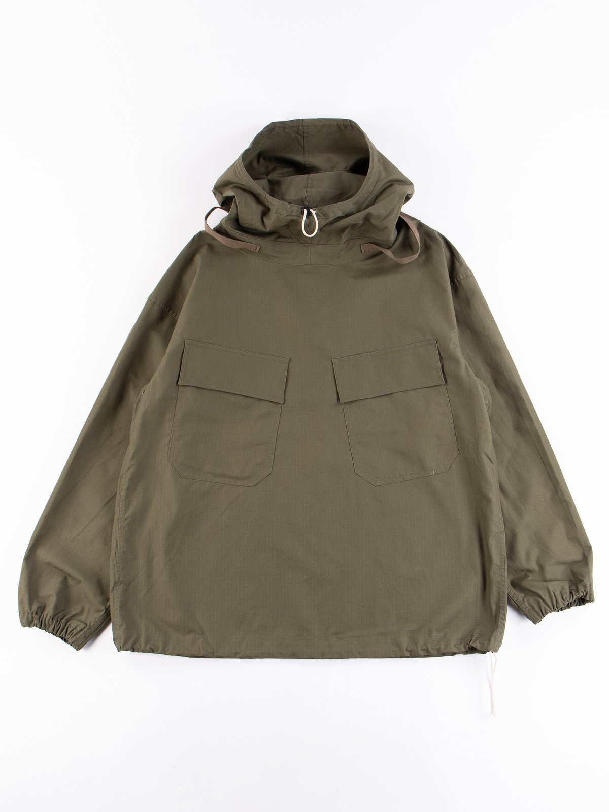 Olive Army Ripstop Salvage Parka - Image 1