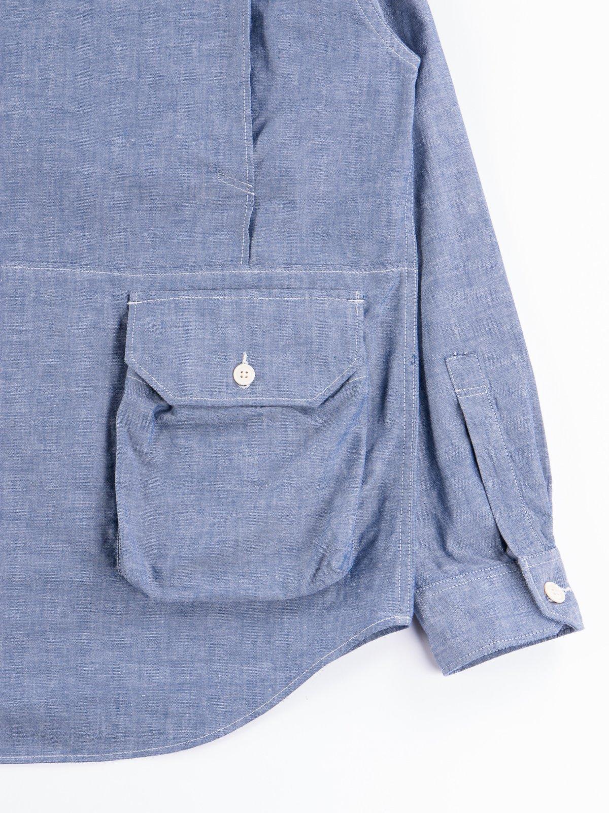 Blue Cotton Chambray Explorer Shirt Jacket - Image 8