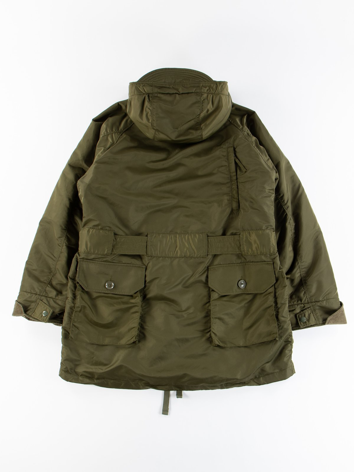 Olive Flight Satin Nylon Field Parka - Image 9