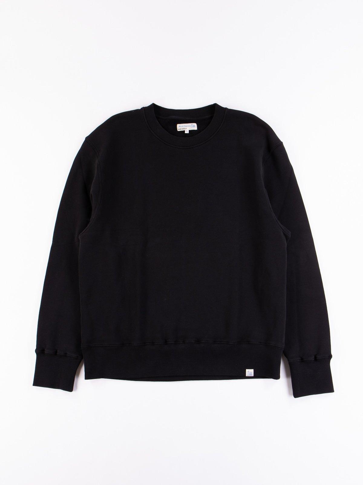 Deep Black Good Basics CSWOS01 Oversized Crew Neck Sweater - Image 1