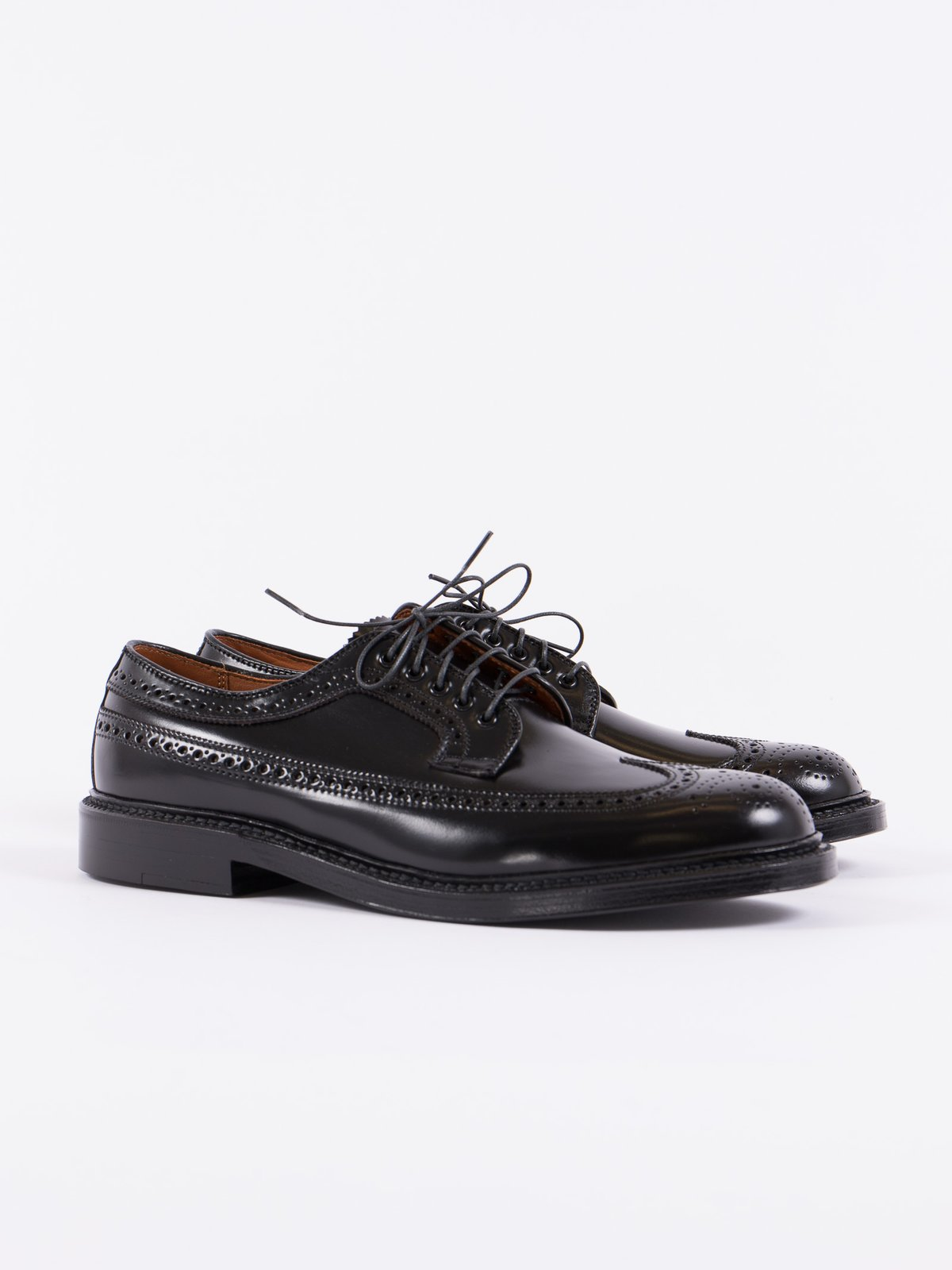 Black Cordovan Long Wing Blucher - Image 1