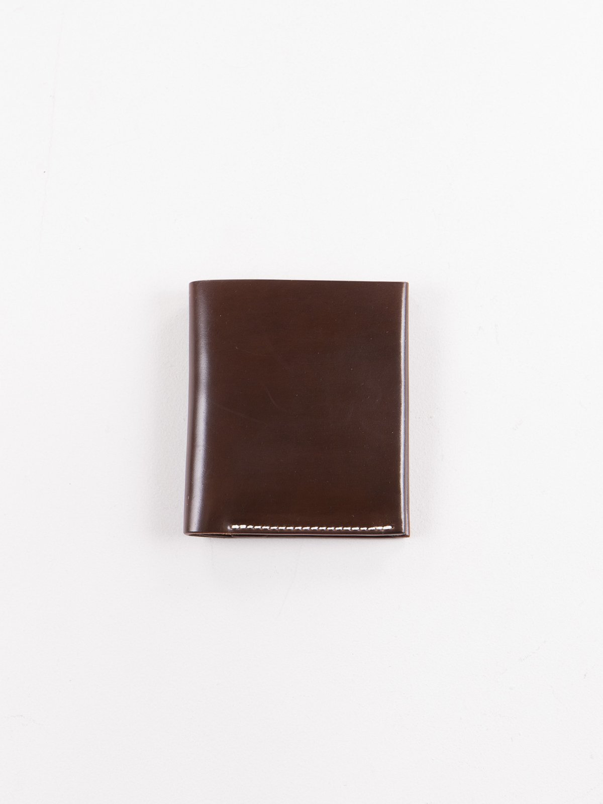 Cognac Horween Cordovan 2–2 Wallet - Image 1